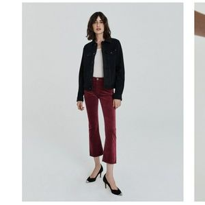 Ag jeans Jodi cropped velvet  jeans 26